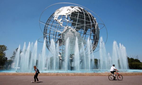 The Unisphere provides a unique display for the visitors in Flushing Meadows Corona Park